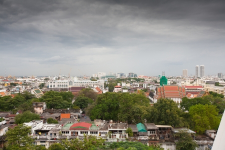 Panorama of Bangkok from Golden Mount. Thailand photo