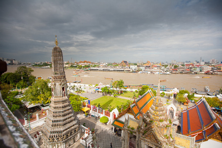 Panorama of Bangkok from Wat Arun temple  Thailand photo