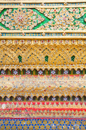 Colorful decoration in temple in Bangkok, Thailand photo