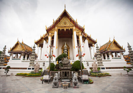 Wat Suthat Thepwararam in Bangkok, Thailand photo