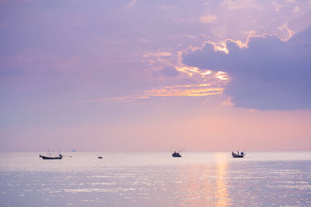 Tropical sunset on the beach. Koh Samui island. Thailand photo