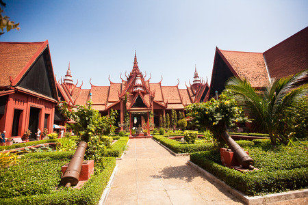 the largest: The National Museum of Cambodia (Sala Rachana) Phnom Penh, Cambodia. This is Cambodias largest museum of cultural history and is the countrys leading historical and archaeological museum. Editorial