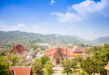 Wat Chalong, the most important temple in Phuket, Thailand photo