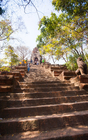 Prasat Banan temple in  Battambang, Cambodia, Southeast Asia photo