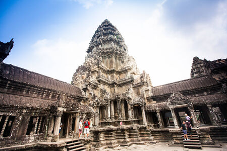 Angkor Wat Temple near  Siem reap, Cambodia. photo