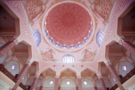 inside the Putra Mosque, Putrajaya city, Malaysia