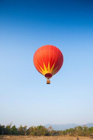 Hot air balloon on sky in Laos, Vang Vieng