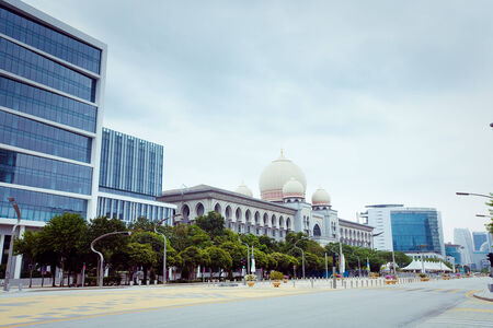 Empty City Street in Hot Summer weather, Malaysia