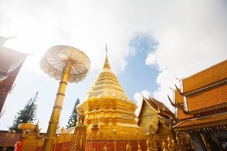 Wat Phra That Doi Suthep is a major tourist destination of Chiang Mai, Thailand photo