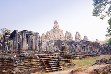 cambodge: Bayon temple,siem reap ,Cambodia, was inscribed on the UNESCO World Heritage List in 1992. Stock Photo