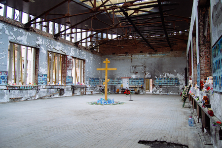Beslan, Russia, October, 3,2015,  School where was the  terrorist attack in Beslan, Caucasus region