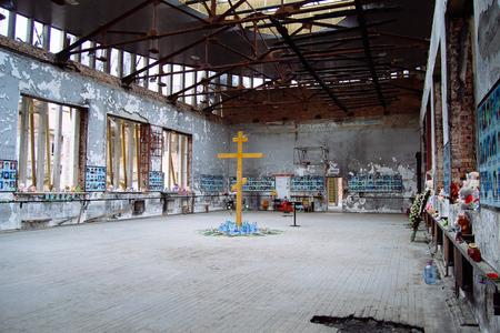 Beslan, Russia, October, 3,2015,  School where was the  terrorist attack in Beslan, Caucasus region