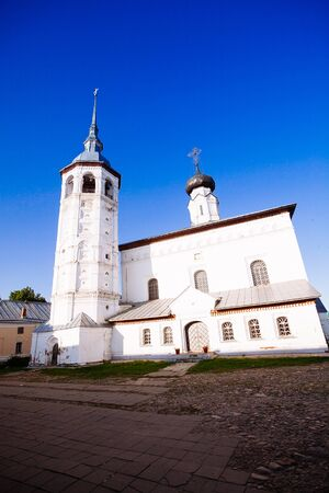 Resurrection (Voskresensky) cathedral in Suzdal in winter. Golden ring of Russia. Stock Photo
