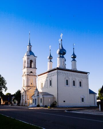 humility: Resurrection (Voskresensky) cathedral in Suzdal in winter. Golden ring of Russia. Stock Photo