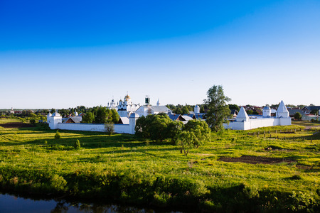 Intercession (Pokrovsky) Monastery in Suzdal.The Golden Ring of Russia Stock Photo