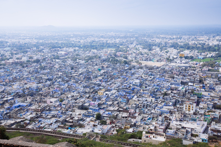 jagmandir: Air view on the Chittorgarh city, India. Rajasthan.