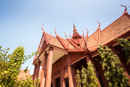 The National Museum of Cambodia (Sala Rachana) Phnom Penh, Cambodia. This is Cambodias largest museum of cultural history and is the countrys leading historical and archaeological museum. Editorial
