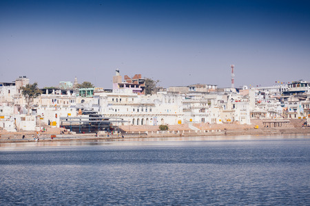 View of the City of Pushkar, Rajasthan. Оne of the holiest city in India. Editorial