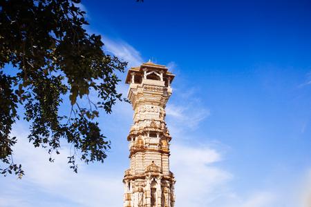 jagmandir: Fort Chittorgarh  in Chittor India. Rajasthan. Kirti Stambha Stock Photo