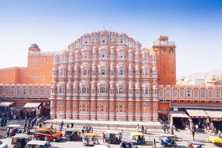 JAIPUR, INDIA - JAN 17: Hawa Mahal or Place of winds or breeze January 17, 2017 Rajasthan, India Sajtókép