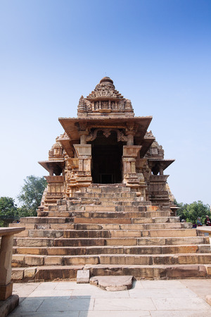 The Khajuraho Group of Monuments. Hindu and Jain temples in Madhya Pradesh, India.