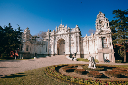 Dolmabahce Palace in Besiktas district, on the European coast of the Bosphorus in Istanbul, Turkey Editoriali