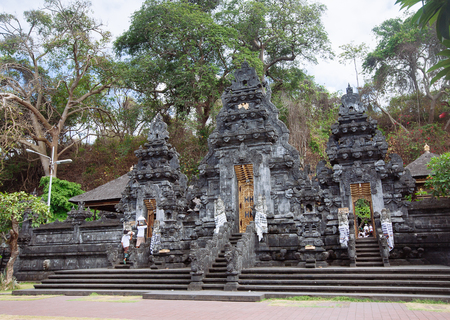 Balinese temple. Travel destination. Architecture, traveling and religion. Imagens