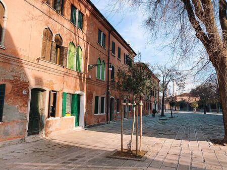 MURANO, ITALY - JANUARY 20, 2020: island of Murano in the lagoon of Venice in Italy. Redakční