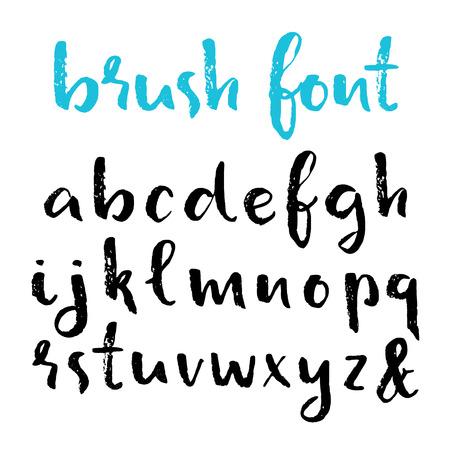 Hand drawn brush pen alphabet.