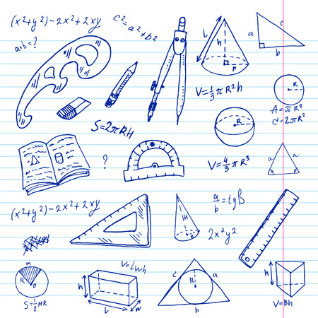 geometria: Establece Mano geometr�a dibujado garabato. Vectores