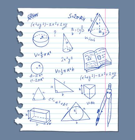 Back to school, doodle elements set. Illustration
