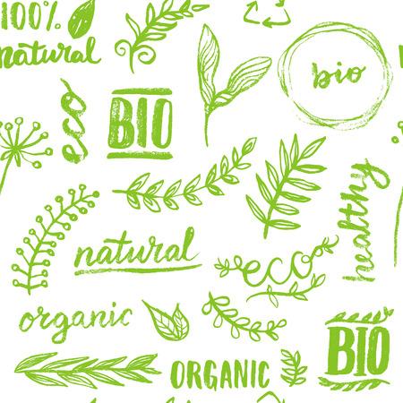 원활한 유기 패턴 배경