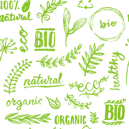 Seamless organic pattern background Illustration