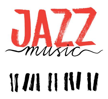 title hands: Jazz music, hand drawn design.