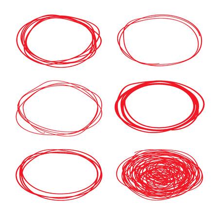 Marker red circle, highlight circle Illustration