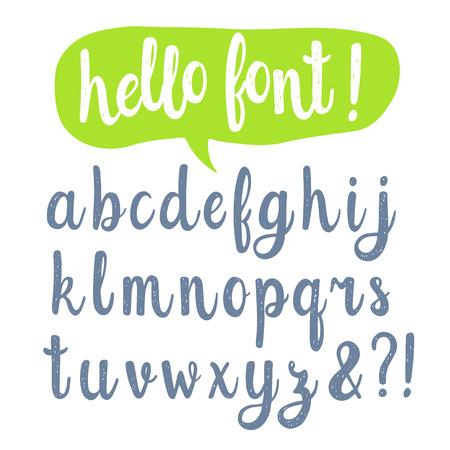 abecedario: Mano fuente caligráfica dibujado