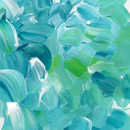 Turkoois blauw olieverf textuur. Stock Illustratie
