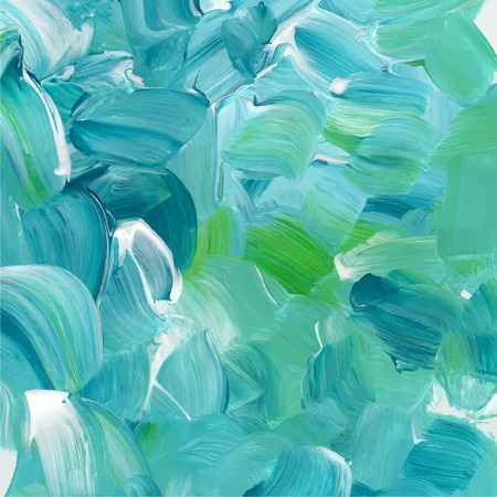 paint palette: Turquoise blue oil paint texture.