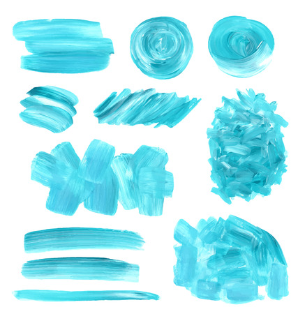 olieverf textuur vlekken in te stellen. Blauwe en groene kleuren.