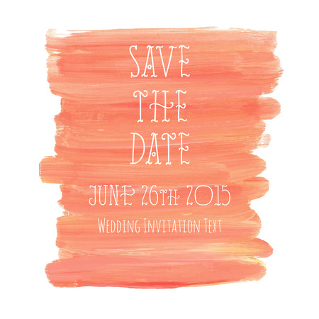 Save the Date with oil paint texture background