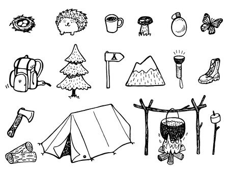 Camping Doodles Stock Vector - 41723158