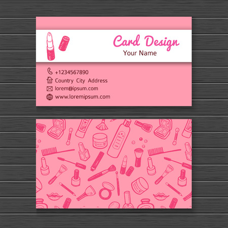 make up products: Make up artist business card template