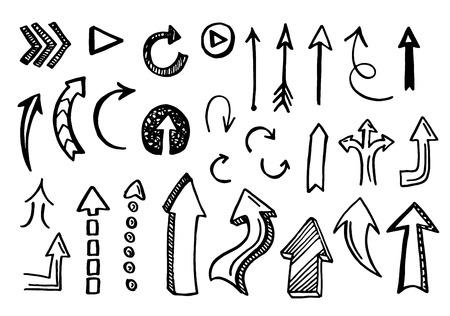 手描きベクトル矢印を設定します。EPS のベクター。  イラスト・ベクター素材