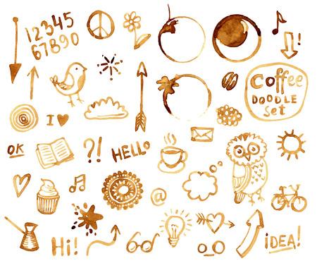 커피 낙서 설정