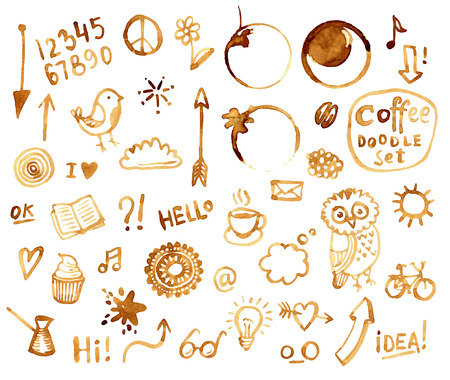 Coffee doodles set Stock Vector - 42260607