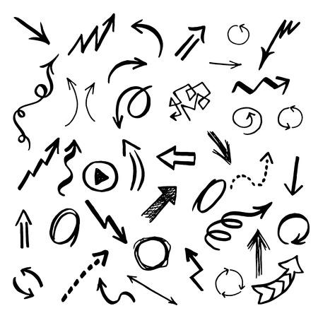arrows vector: Hand drawn vector arrows set. Vector EPS.