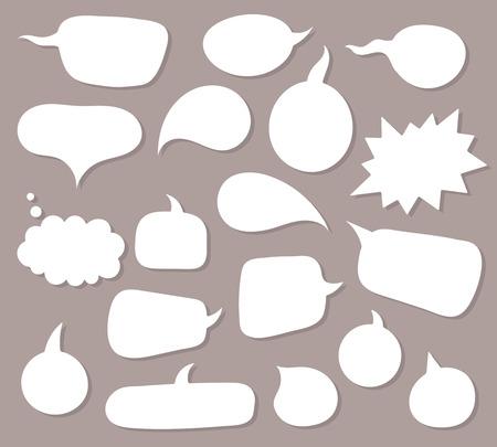 burbuja: Vector discurso burbujas fondo conjunto. Vectores