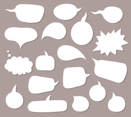 Vector speach bubbles background set.