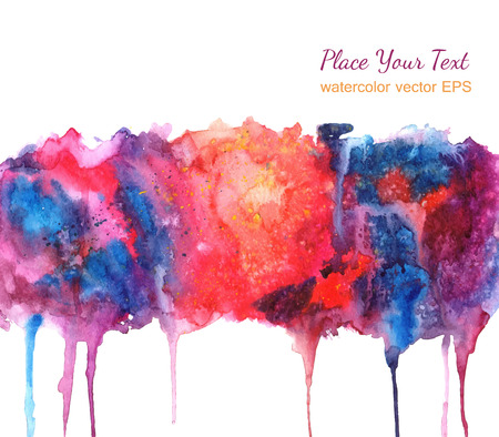 Abstract watercolor background for your design. Vettoriali