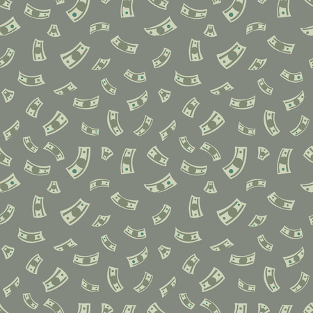 Money background. Vector seamless pattern with dollars.